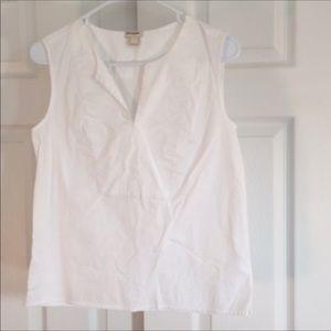 J. Crew white blouse 2